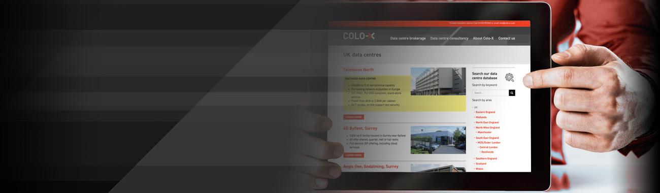 Colo-X data centre database search